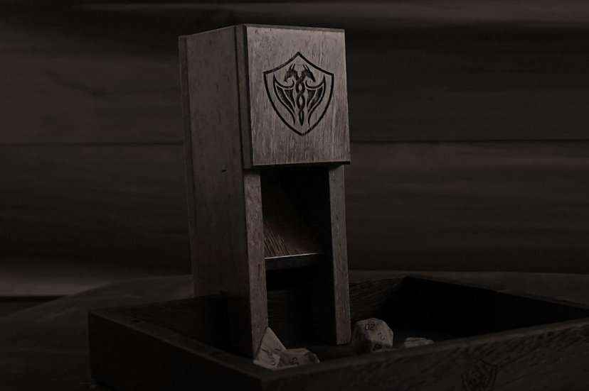 Wenge Magnetic Dice Tower - Nomad's