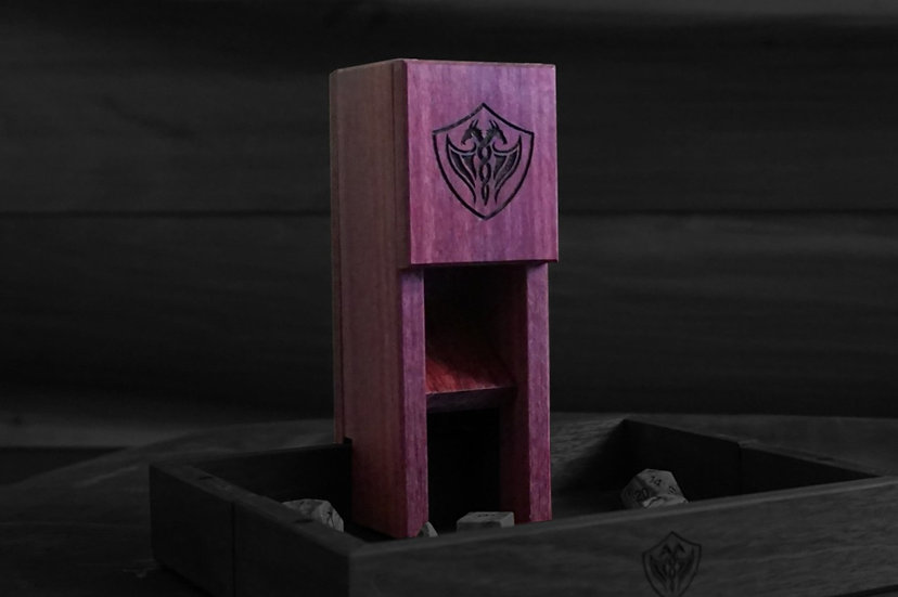 Purpleheart Magnetic Dice Tower - Nomad's