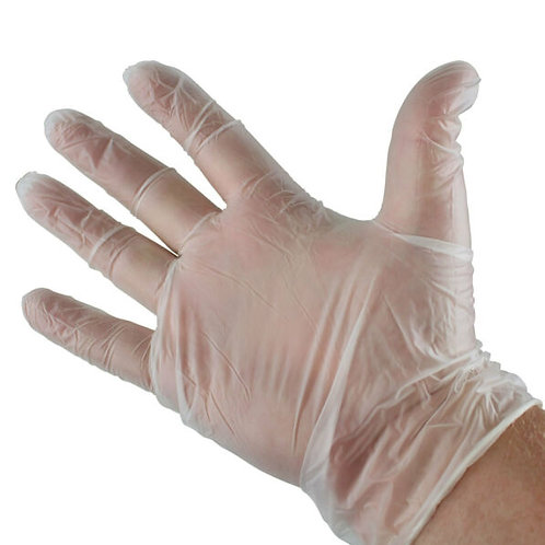 Vizi Tech Premium Clear Vinyl Gloves Medium (10pk)