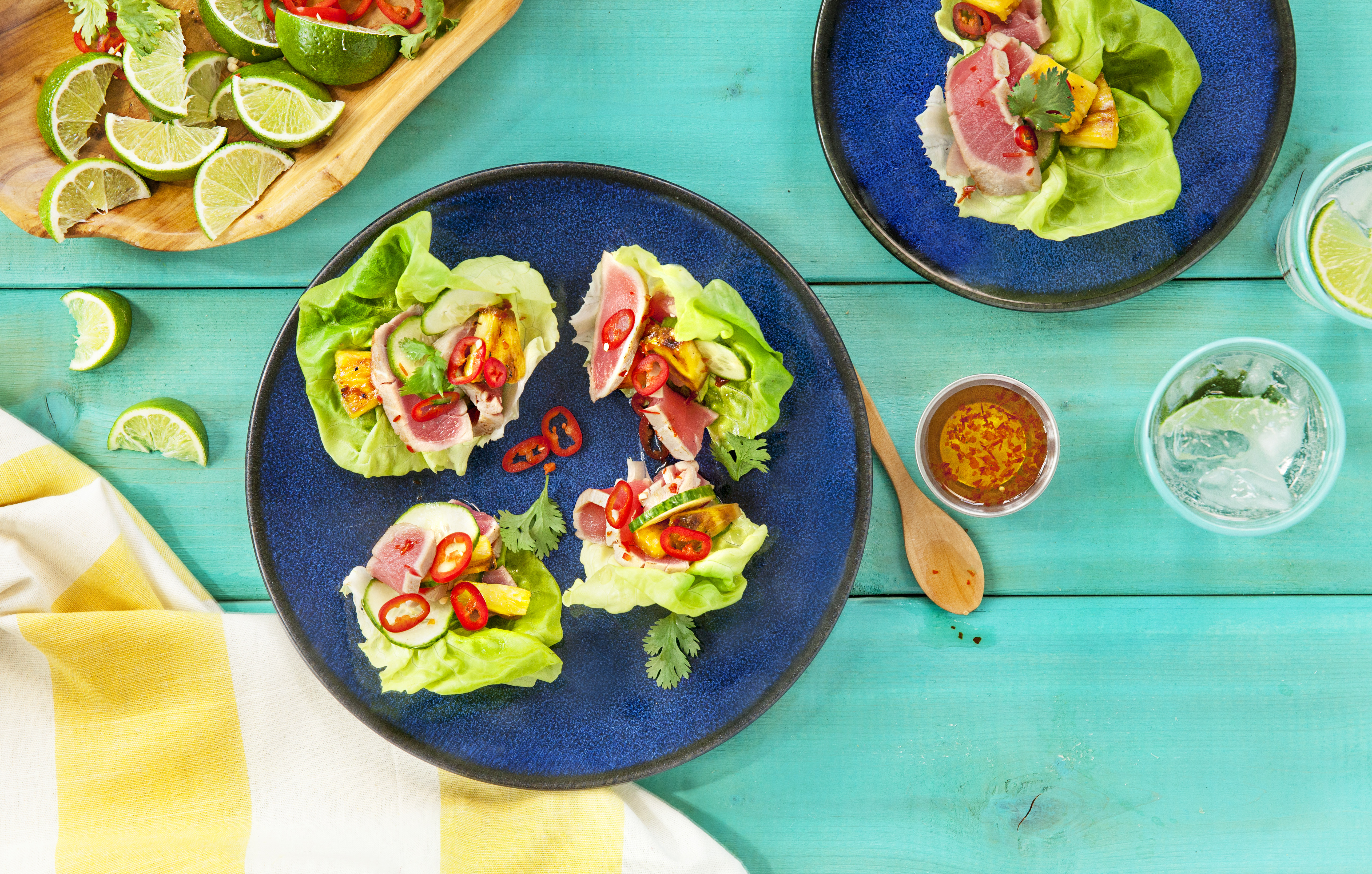 BLUE DRAGON Ahi Tuna Lettuce Wraps-FINAL