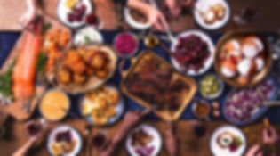 family dinner spread chanukah seder hanukak holiday