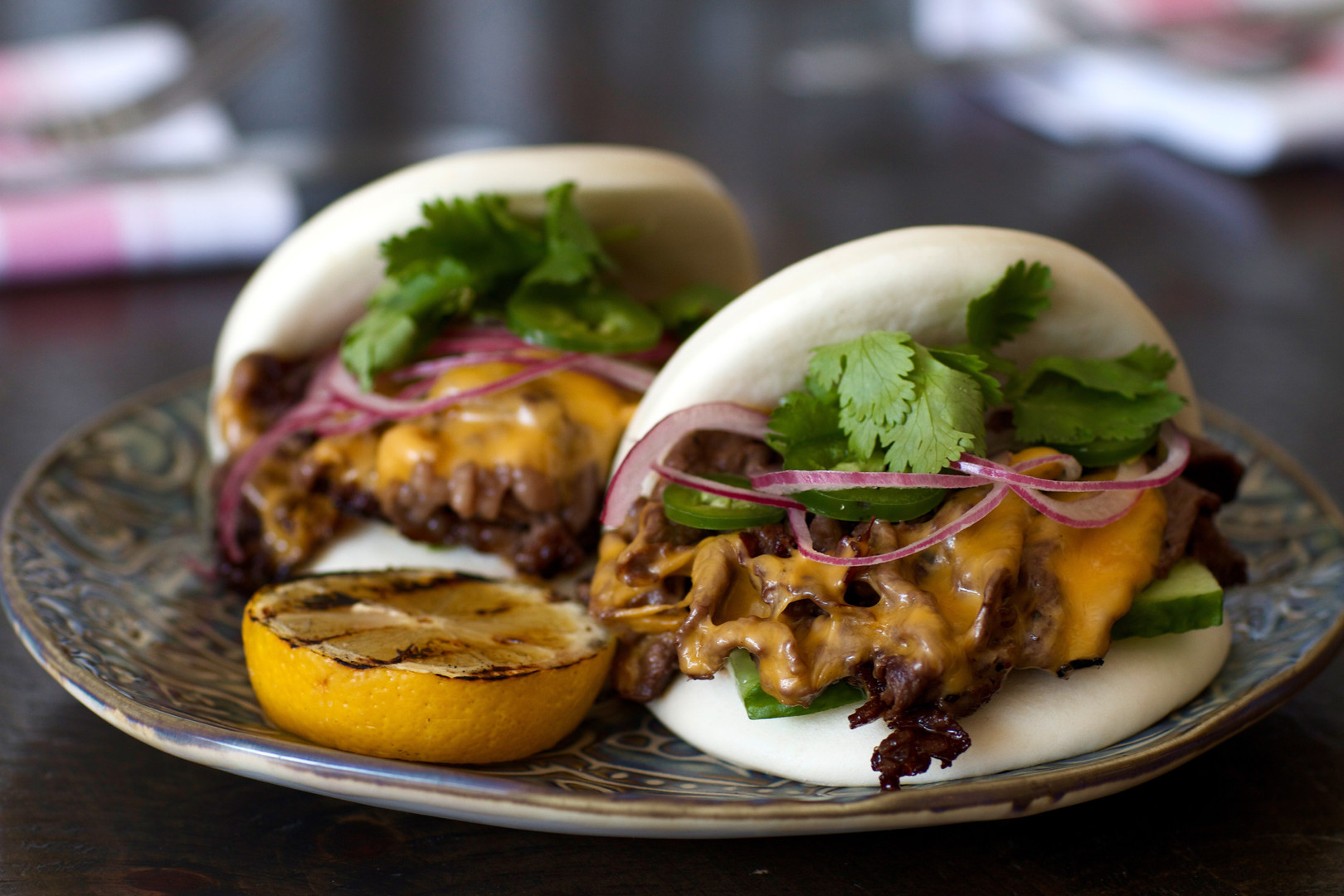 Philly Cheese Steak Bao Buns