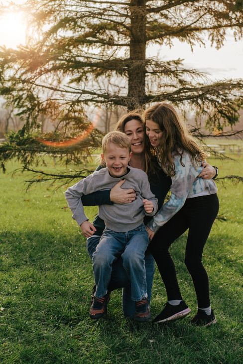 Golden Hour Fall Family Outdoor Session