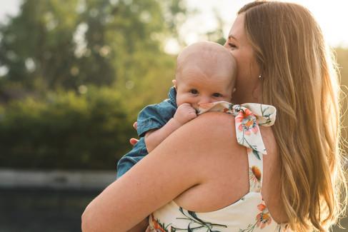 Golden Hour Family & Newborn Portrait Session