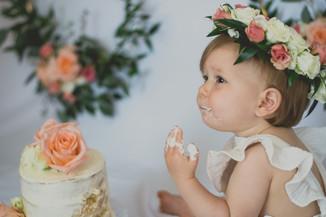 In-Home Cake Smash Milestone Portrait Session