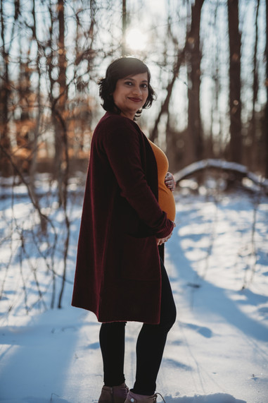 Golden Hour Maternity Photography Winter