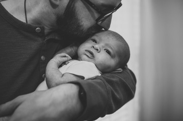 In-Home Lifestyle Newborn Family Portrait Session
