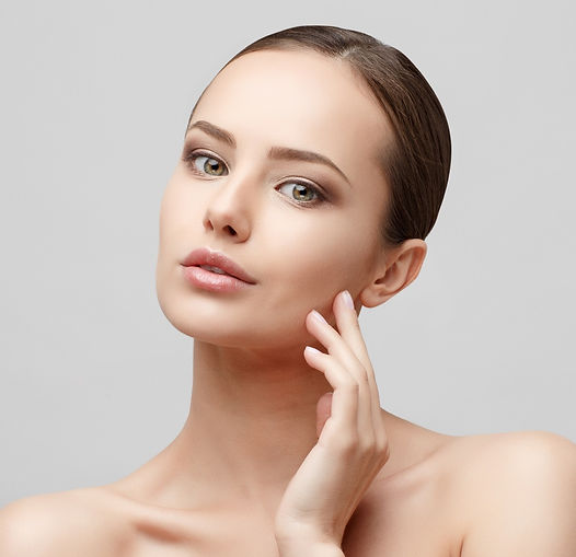 Beautiful Face of Young Woman with Clean