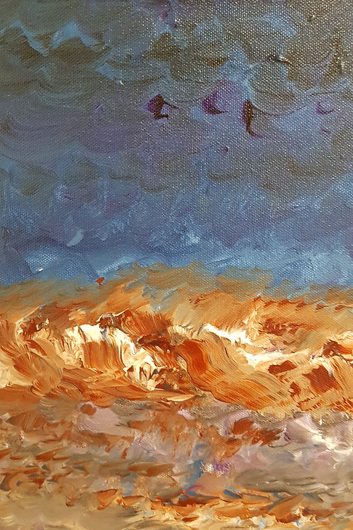 Waves to sand, Sky to land 12 x 16 x 0.7 inches