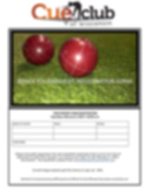 Bocce Tournament Informational Flyer and
