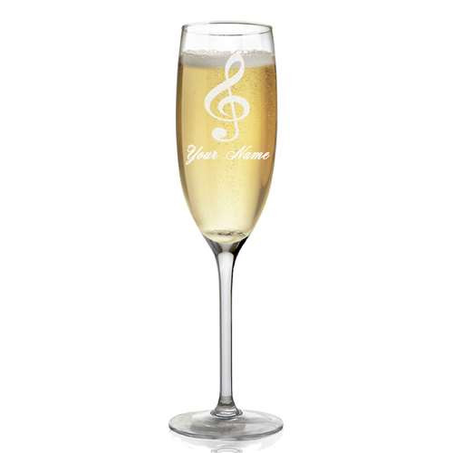 This G-Clef champagne glass is perfect for that special occasion! Pick one up today, while supplies last!