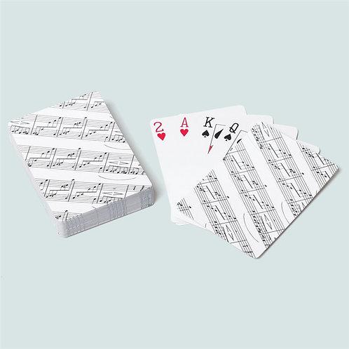Sheet Music Playing Cards