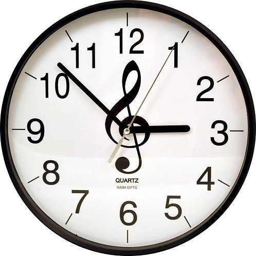 "Music G-Clef 10"" Wall Clock"