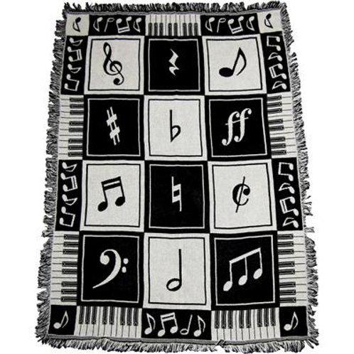 Woven Keyboard B/W w/Notes