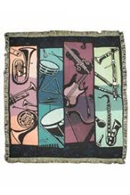 Instruments Woven Blanket