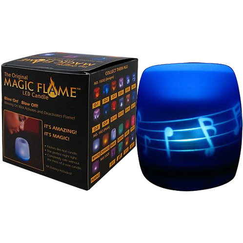 LED Magic Flame Candle (BLUE W/NOTES)