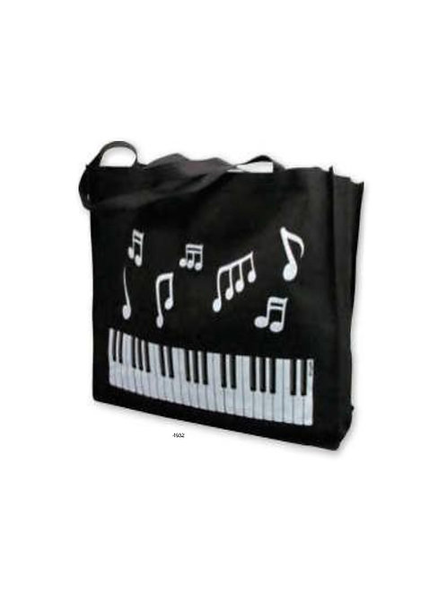 """Reusable Tote 16"""" x 20"""" Keyboard Notes (black) 15"""" x 17"""" x 7.5"""""""