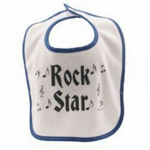 Rock Star Baby Bib - Blue