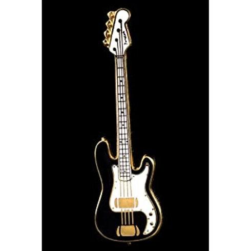 Electric Bass Guitar Pin (Black)