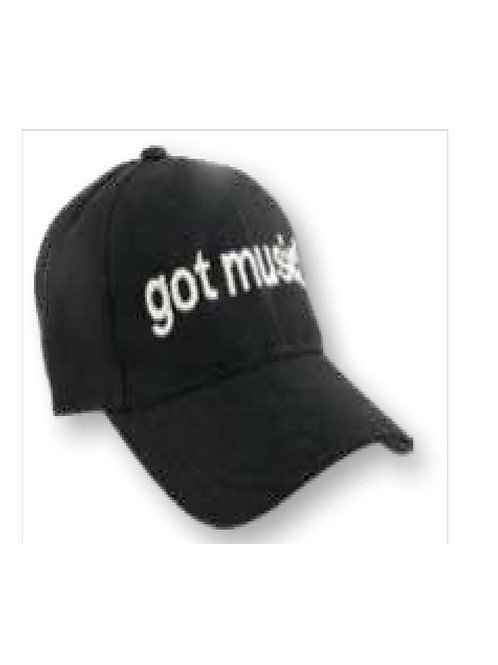 Baseball Style Cap Got Music?(black)