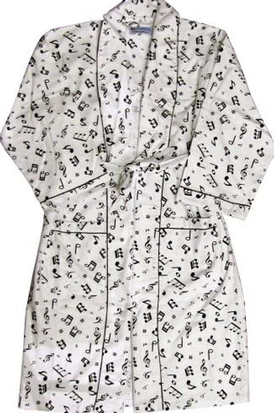 Music Notes Flannel Robe (ONE SIZE FITS ALL)