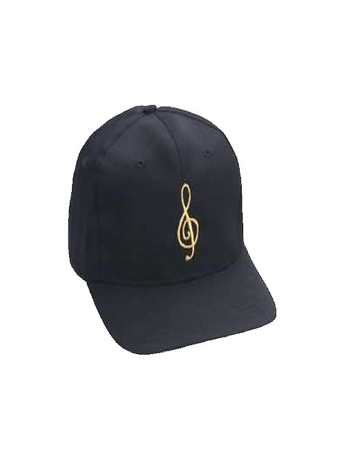Baseball Style Cap G-Clef (black/gold)