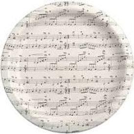 Sheet Music Paper Plates 16/per pack