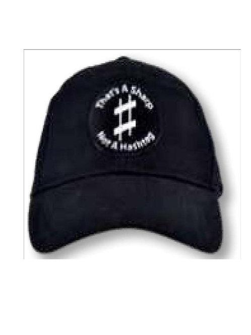 Baseball Style Cap Sharp Not Hashtag (black)