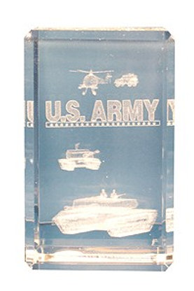 U.S. Army 3-D Etched Crystal