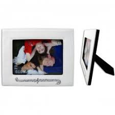 This frame is a white horizontal frame that has a music theme!