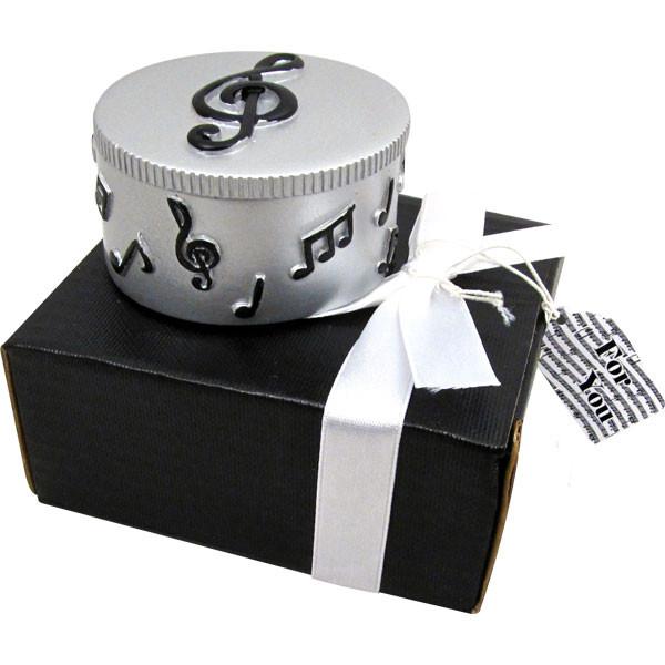 Trinket Box W/Music Notes