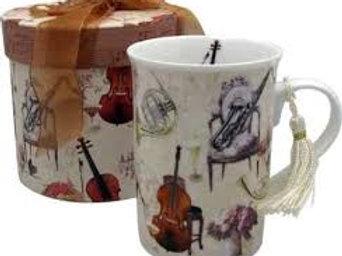 Elegant Music Mug W/Gift Box