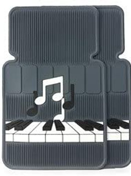 Keyboard with notes car mat set