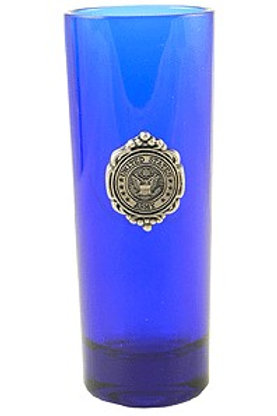 Army Shooter Glass Blue
