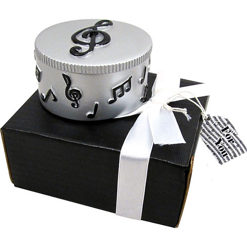 Trinket Box with Music Notes