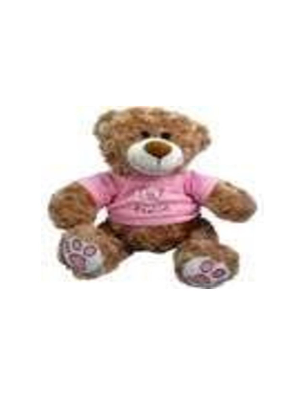 Having a baby girl or know someone that is? Get them this celbratory teddy bear for their newborn!