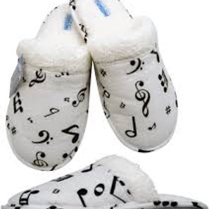 Music Notes Flannel Slippers