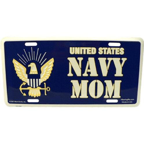 US NAVY MOM license plate