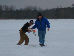 Denny's Resort Winter Fishing