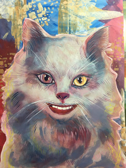 White  cheshire cat alice in wonderland