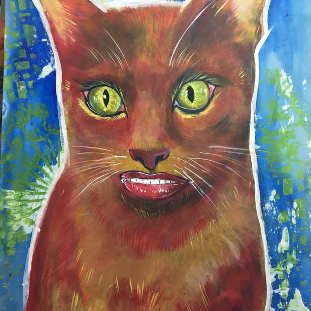 orange smiling cat cheshire cat alice in wonderland