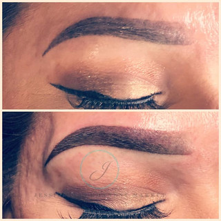 Today's touch up on Ombré Brows 😍😍🙏🙏