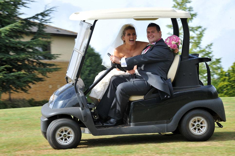 wedding golf buggy