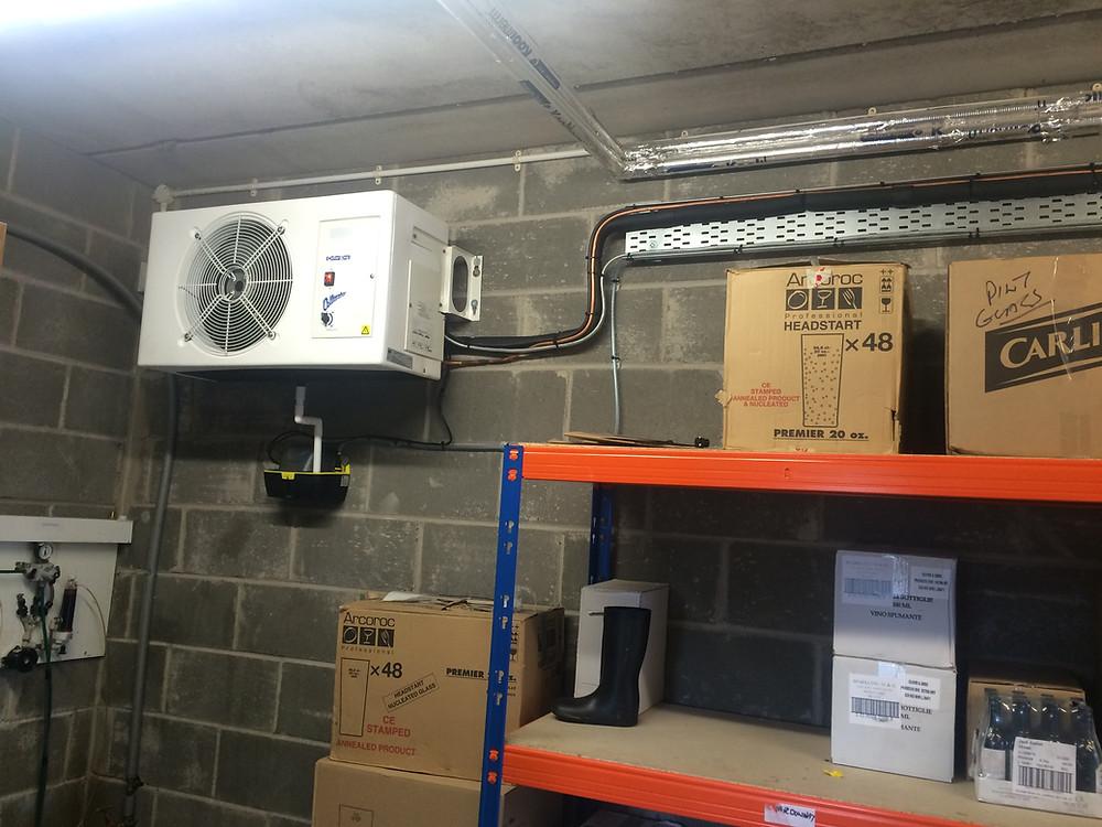Beer cellar cooling