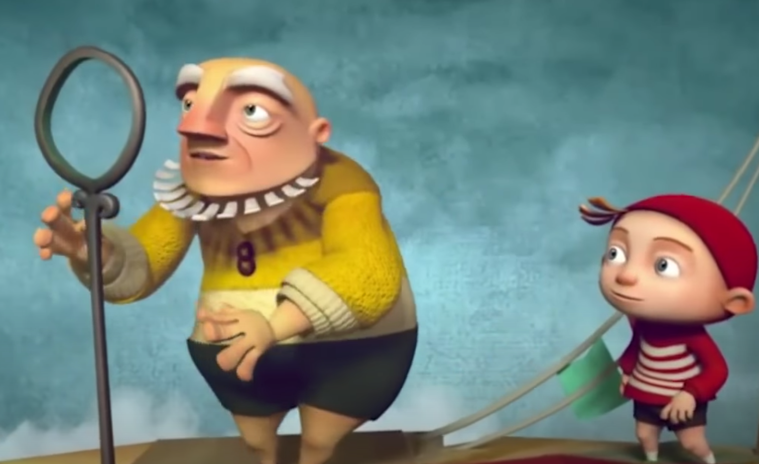 """A Cloudy Lesson"" Animated short filmed."