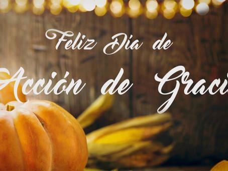 Week # 12 - Feliz Día de Gracias!