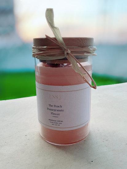 2 Adet The Peach Pomegranate Flower Mum ( Şeftali Kokulu Nar Çiçeği Mumu )