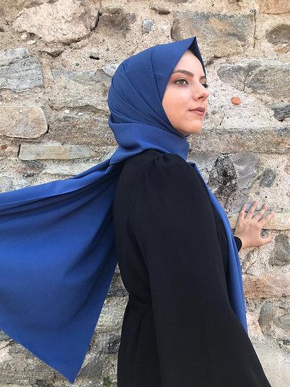 Nerissa Sipal Medine İpeği Şal İndigo
