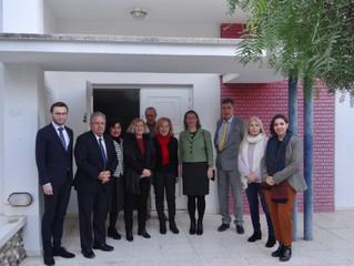 Visite de l'Ambassadrice Mme Isabelle Dumont à l'AF de Limassol! 22 Janvier 2020. - Επίσκεψη