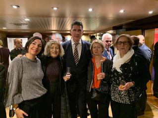 Réception au port-avion 'Charles de Gaulle, le 22 Février 2020, à Limassol. - Ρεσεψιόν  στο αερο